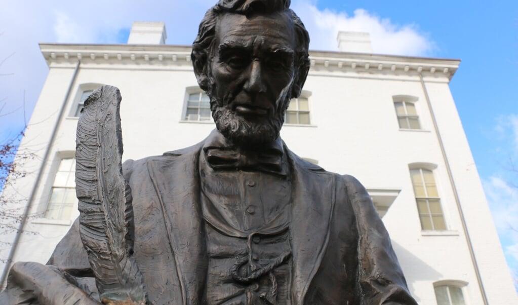 Abraham Lincoln wordt gezien als symbool van Amerikaanse eenheid.  (beeld Riekelt Pasterkamp)