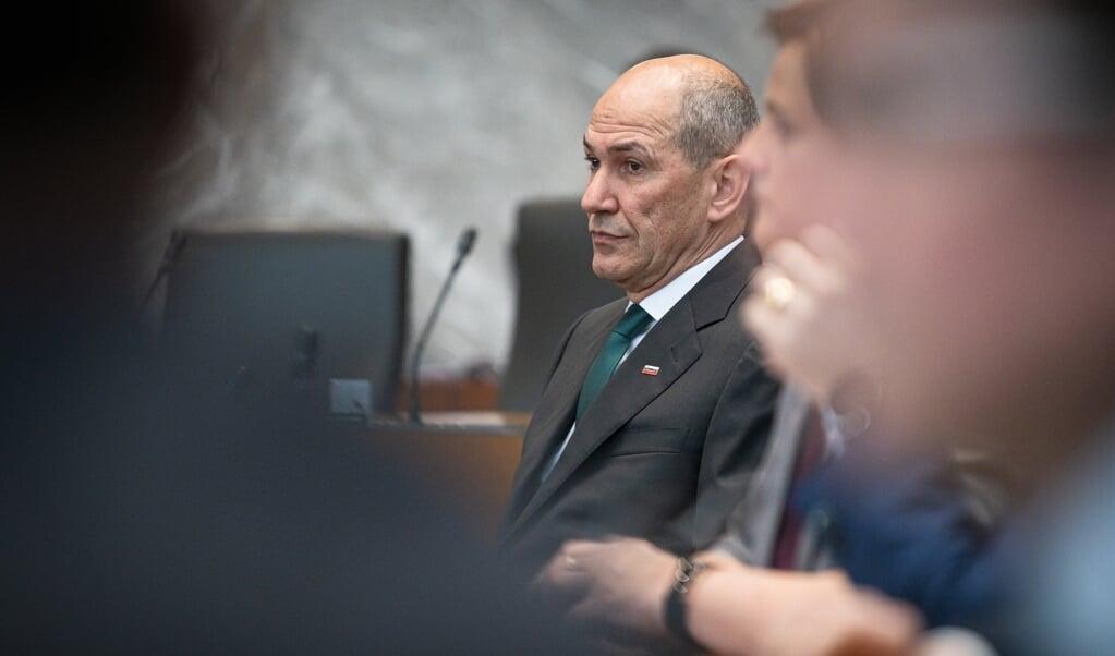 De Sloveense premier Janez Jansa ligt onder vuur van Verslaggevers Zonder Grenzen.  (beeld afp / Jure Makovec)