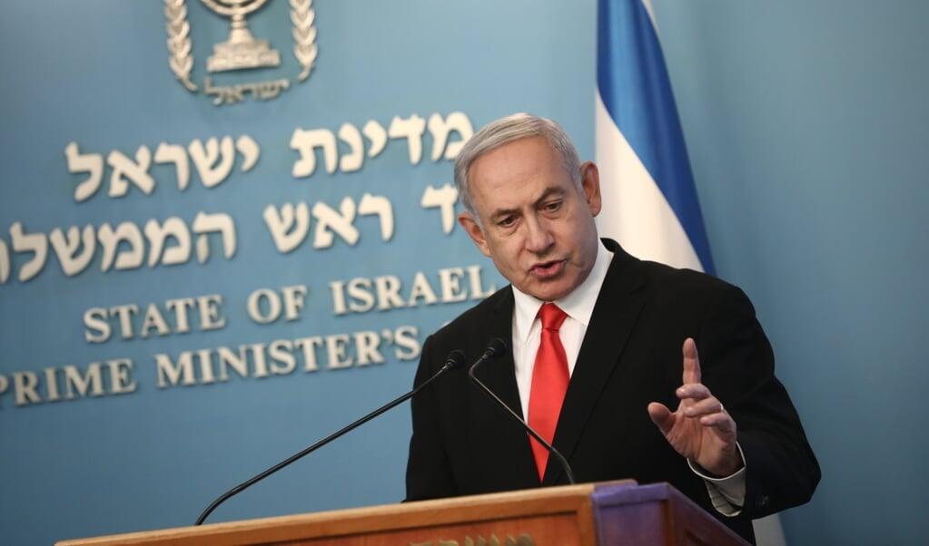 2020-03-16 00:00:00 epa08299107 Israeli Prime Minister Benjamin Netanyahu holds a press conference at the PM's office in Jerusalem, 16 March 2020.  EPA/Yonatan Sindel / POOL *** Local Caption *** îñéáú òéúåðàéí øàù äîîùìä áðéîéï ðúðéäå  (beeld Epa/yonatan Sindel / Pool *** Local Caption *** îã±ã©ã¡ãº òã©ãºã¥ã°ãã©ã øãã¹ äã®ã®ã¹ã¬ã¤ áã°ã©ã®ã©ã¯ ðãºã°ã©ã¤ã¥)