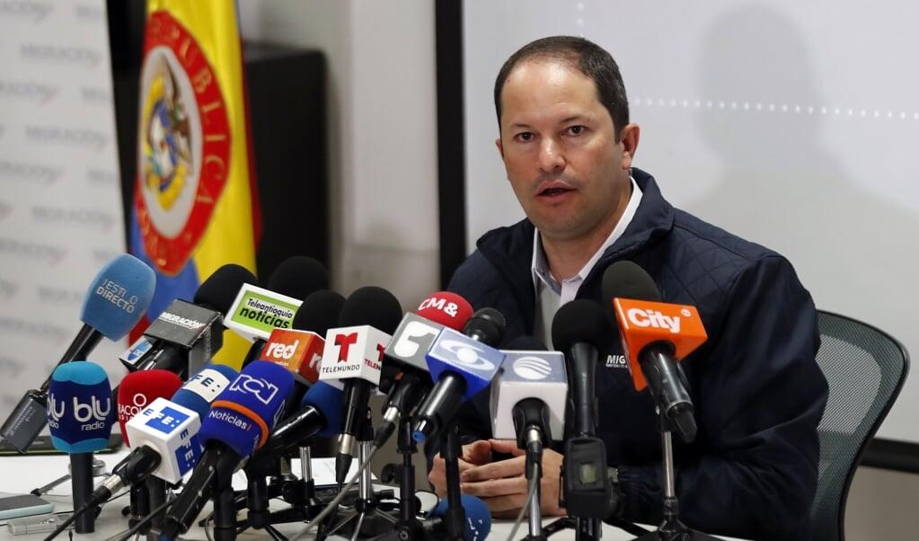 Juan Francisco Espinosa, hoofd van de Colombiaanse immigratiedienst, gaat ervan uit dat 80 procent van de terugkerende Venezolanen opnieuw naar Colombia komt als de pandemie voorbij is.  (beeld epa / Mauricio Duenas Castaneda)