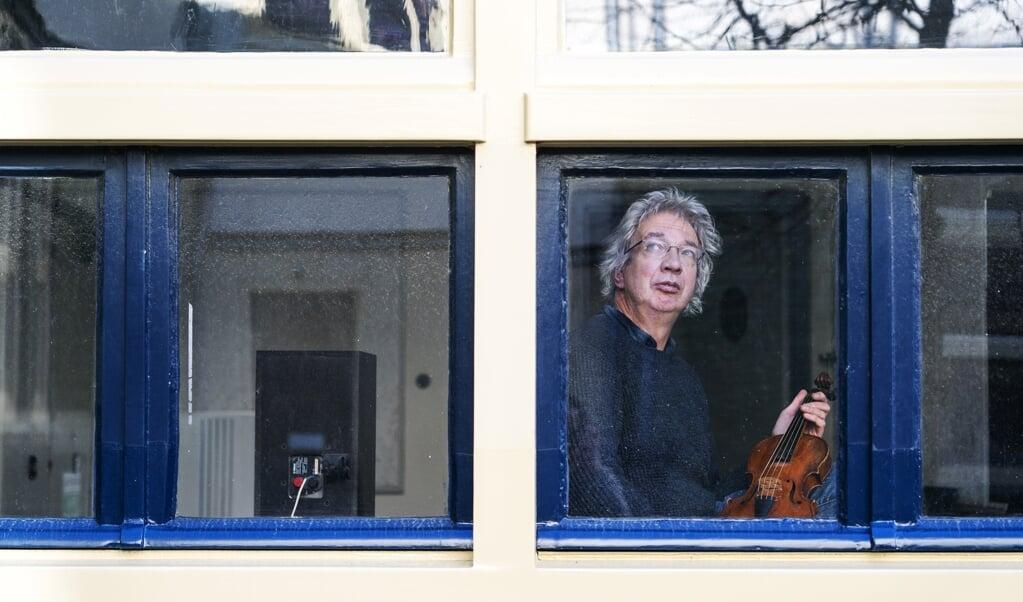 Hans Lub uit Utrecht, violist.  (beeld Jeroen Jumelet)