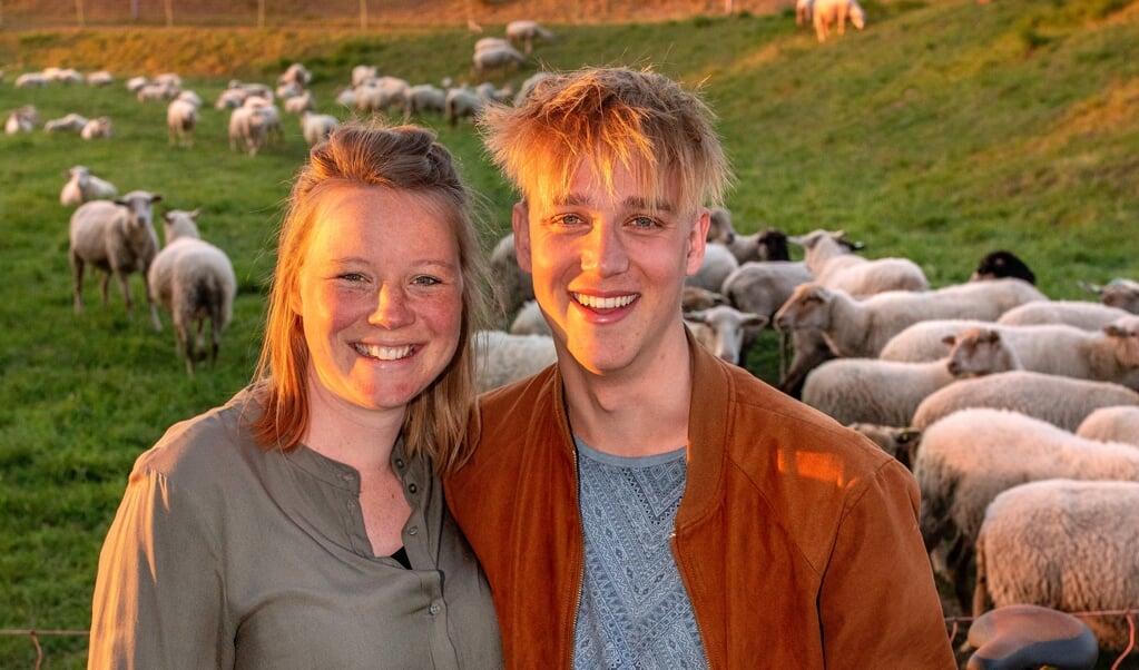 Ruben en Marit Anker. Zij zijn vijf jaar getrouwd en verwachten hun eerste kindje.    (beeld Dirk Hol)