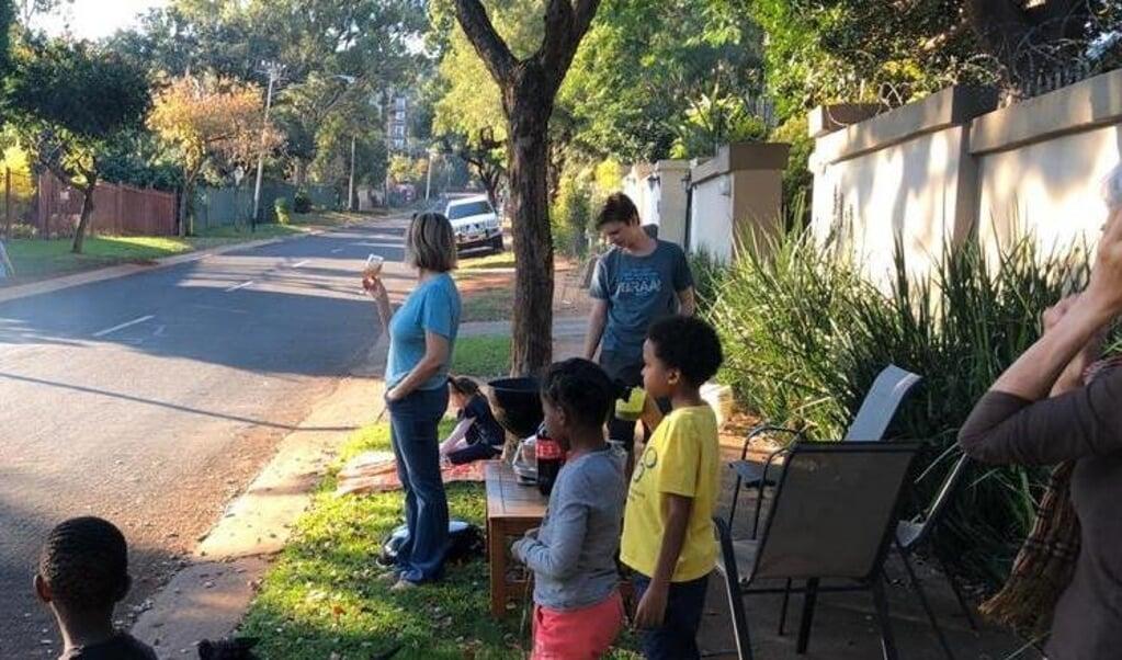 Braai in grendeltyd, Pretoria.  (beeld Hans Werkman)