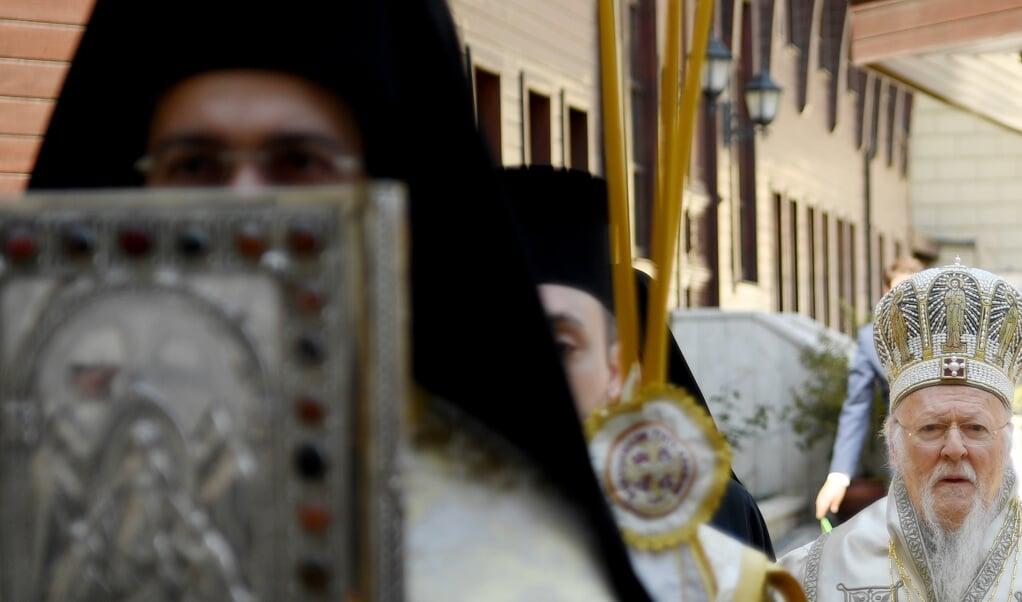 Bartholomeüs I, een patriarch van en in de wereld.  (beeld afp / Ozan Kose)