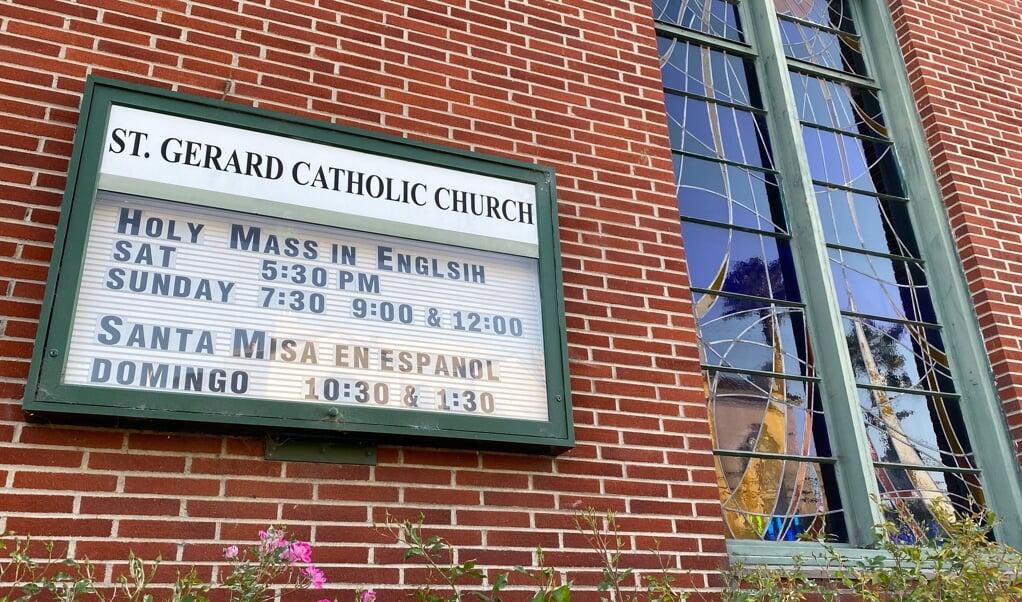 De Sint Gerardus Majellakerk in Los Angeles (Verenigde Staten).  (beeld Chris Delmas / afp)