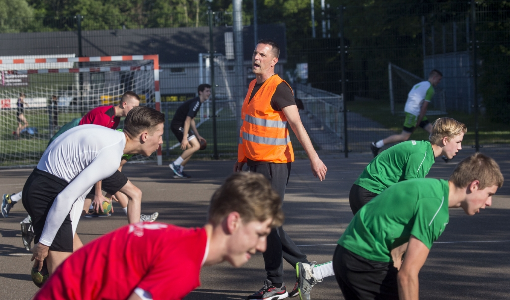 Neso Saponjic tijdens de training.  (beeld Arie Kievit)