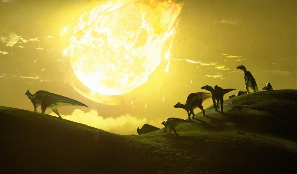 De inslag van een steenklomp betekende het einde voor niet-vliegende dinosauriërs.  (beeld Chase Stone)