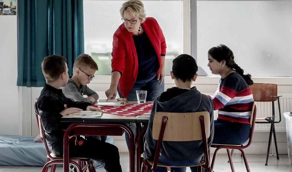 Ingeborg Dijkstra, leerkracht Emile Weslyschool in Maastricht  (beeld Franco Gori)