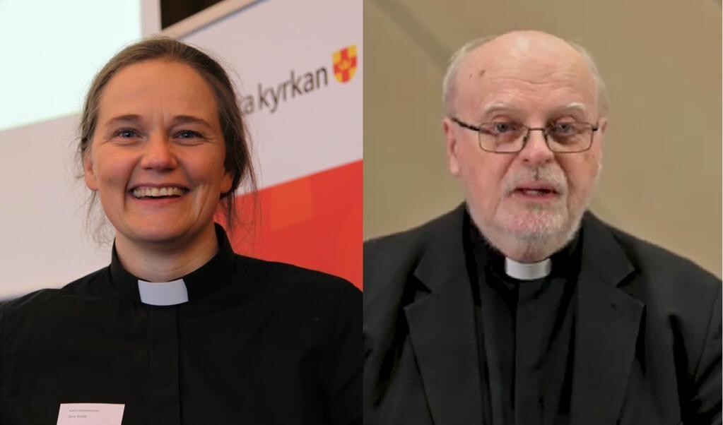 Bisschop Karin Johannesson en kardinaal Anders Arborelius  (beeld )