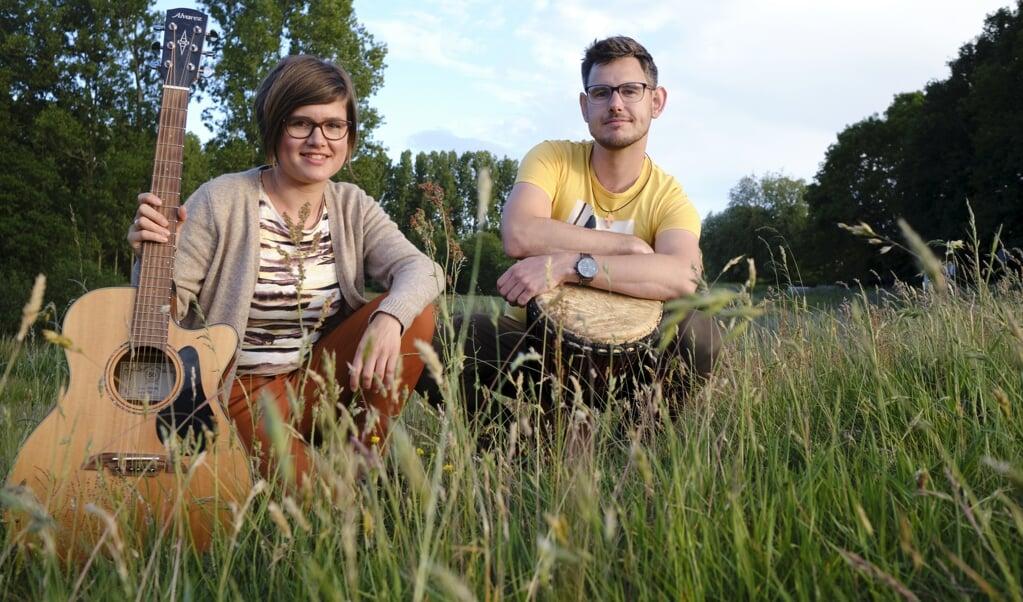 Arend Jan en Dorien Poelarends  (beeld Dick Vos)
