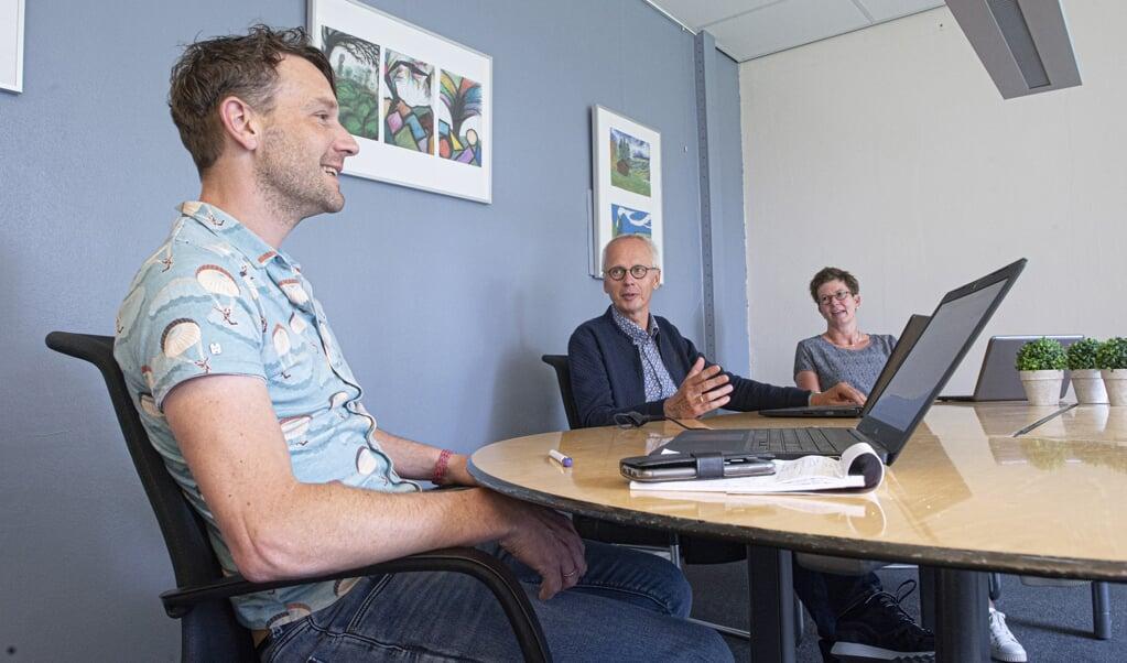 270520 vergader circuit Gormarus College. VLNR Gerrit de Graaf ,Gerard Ypema en Willeke Veldhuizen  (beeld duncan wijting)