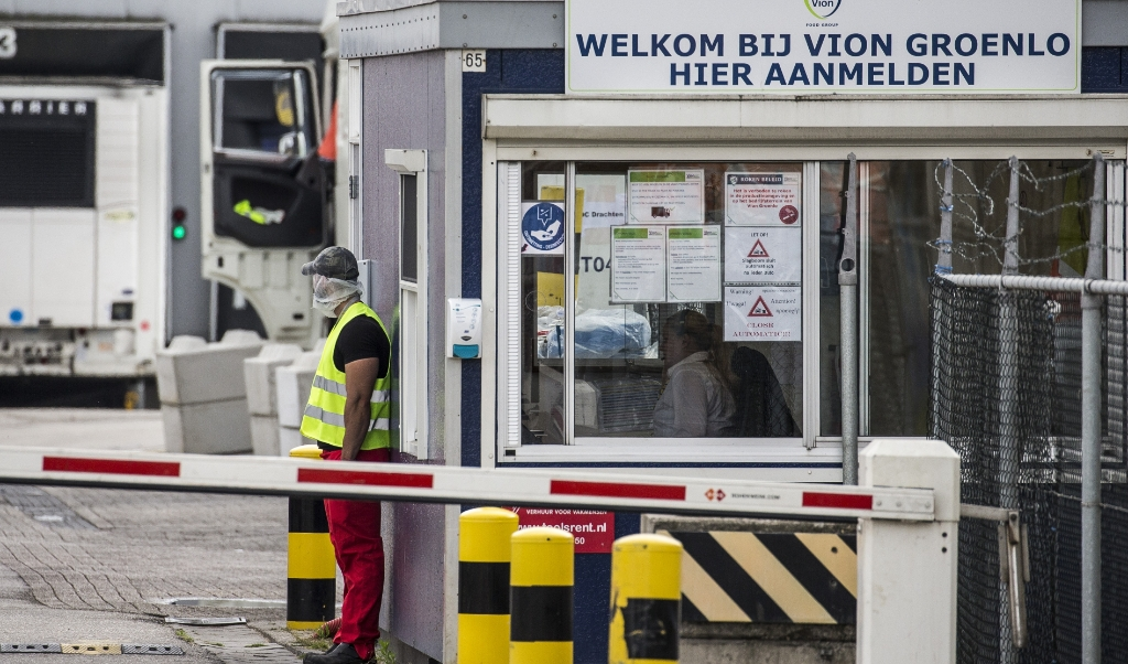 Het slachthuis van vleesverwerker Vion in Groenlo is gesloten vanwege een uitbraak van het coronavirus.   (beeld anp / Vincent Jannink)