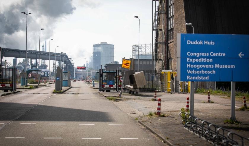 Het terrein van Tata Steel in IJmuiden.  (beeld anp / Laurens Bosch)