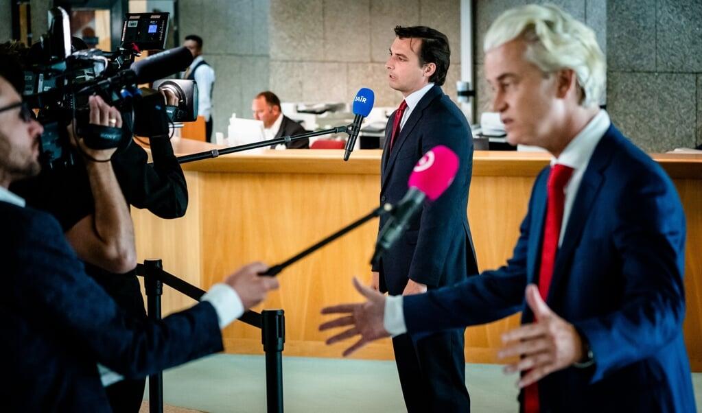 Hoewel PVV en Forum voor Democratie nauwelijks meebesturen, beïnvloeden ze sterk het migratiedebat.  (beeld anp / Bart Maat)