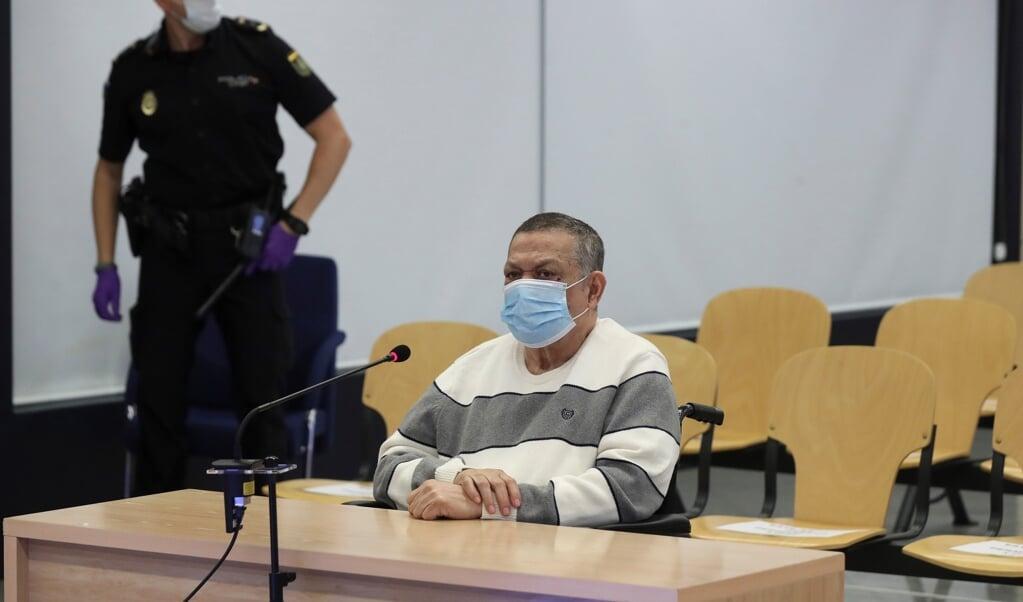 <p>Inocente Montano in de rechtbank van Madrid (Spanje)</p>  (beeld Epa / Kiko Huesca)
