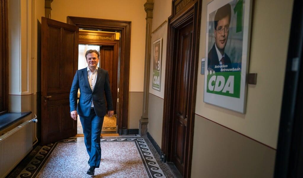 Pieter Omtzigt (CDA) in het gebouw van de Tweede Kamer. Omtzigt is kandidaat lijsttrekker voor de Tweede Kamerverkiezingen voor het CDA. ANP BART MAAT  (beeld anp / Bart Maat)