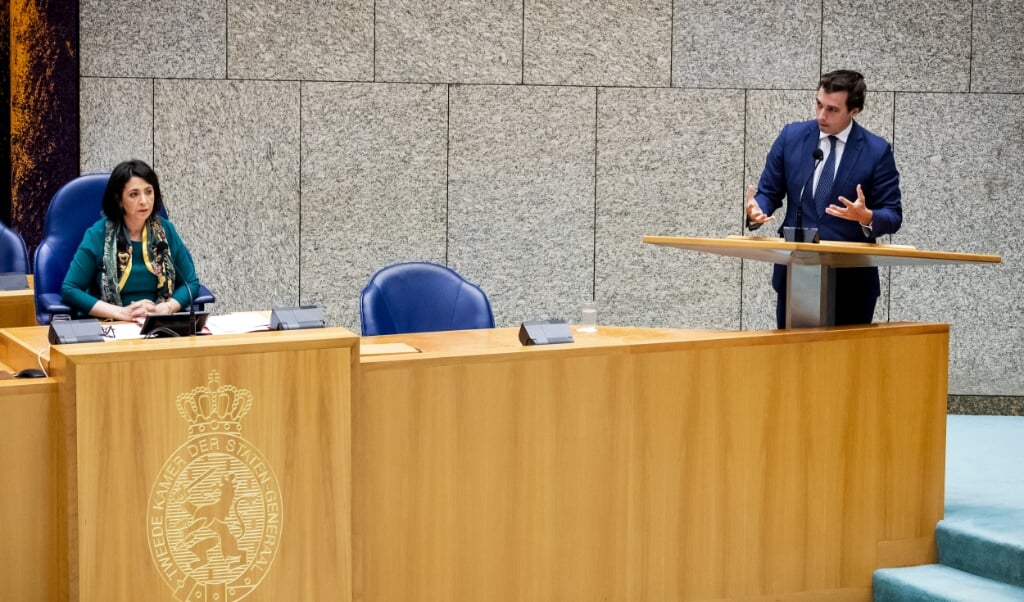 <p>Khadija Arib en Thierry Baudet.</p>  (beeld anp / Sem van der Wal)