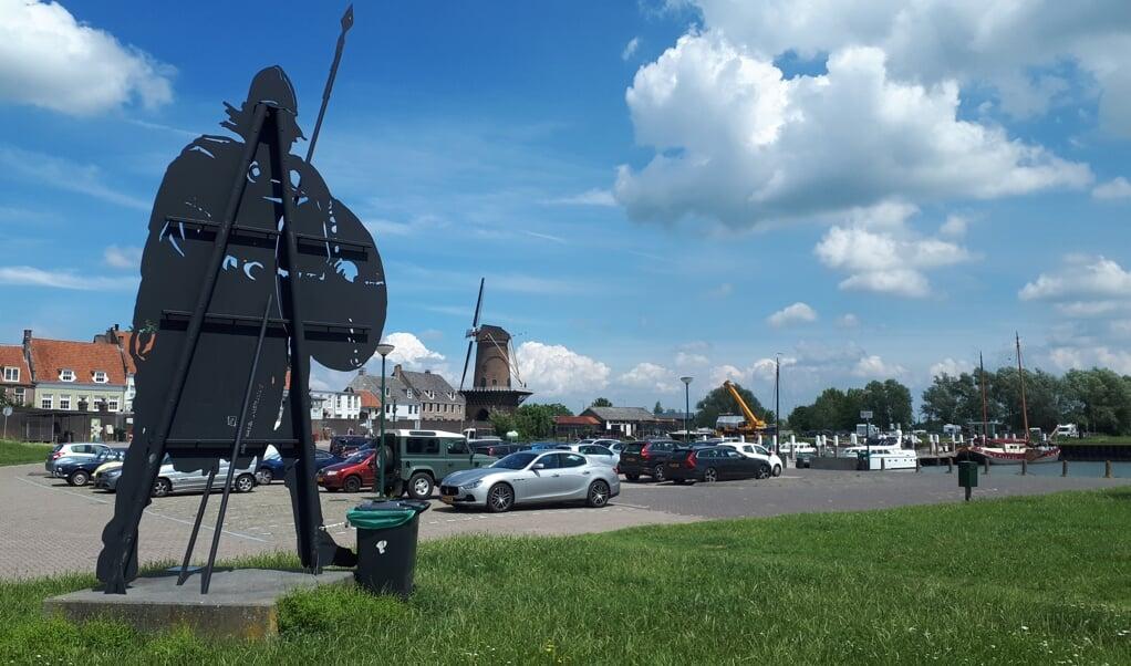 Zicht op de hedendaagse haven van Wijk bij Duurstede.  (beeld nd)