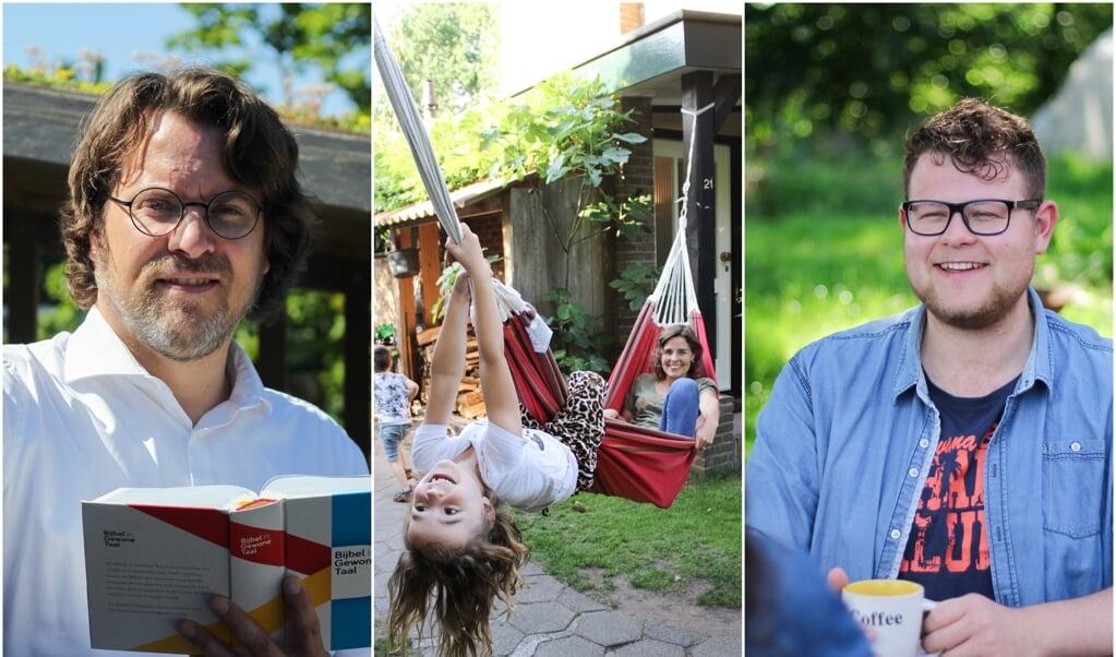 Matthijs Vonk, Rachel Nieuwenhuis met dochter Aviv, Daan Teeuw  (beeld Karen Zilver)