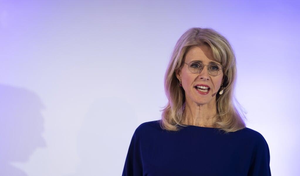 Mona Keijzer, maandagavond bij het enige debat van het CDA. 'Jammer genoeg wilden de heren weinig in debat.'  (beeld anp / Jeroen Jumelet)