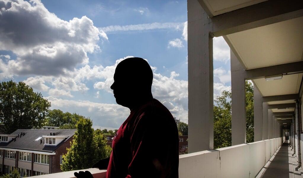 Mustafa hoopt dat zijn vrouw en kinderen ook naar Nederland mogen komen.  (beeld Henk Visscher)