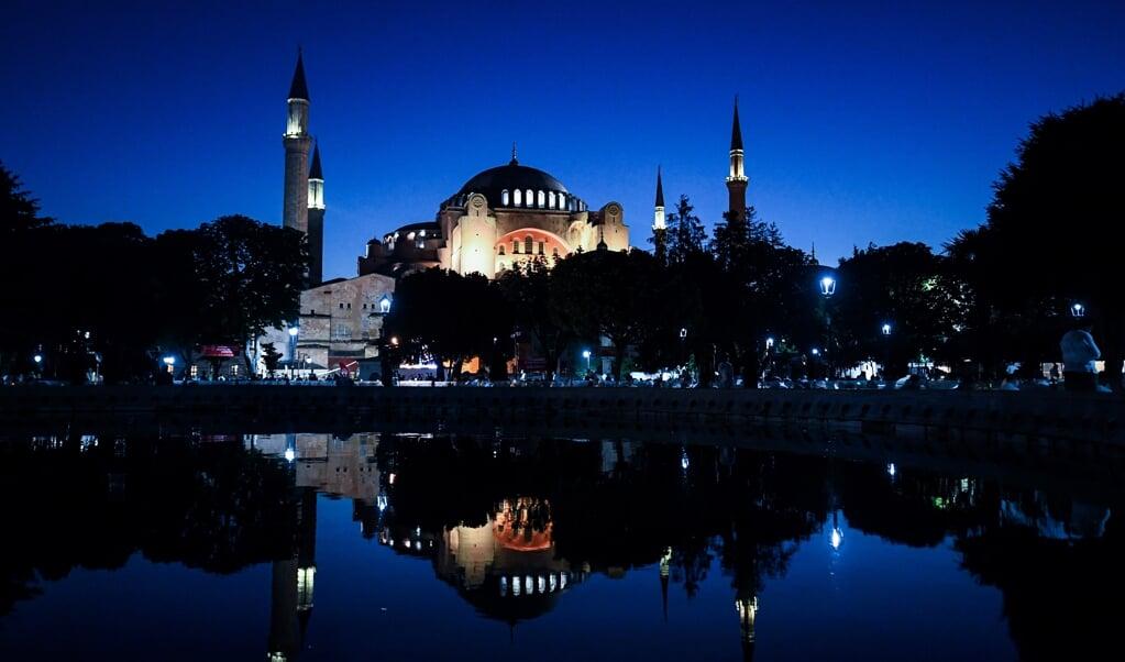 De Hagia Sophia op 31 juli 2020.  (beeld Ozan Kose / afp)