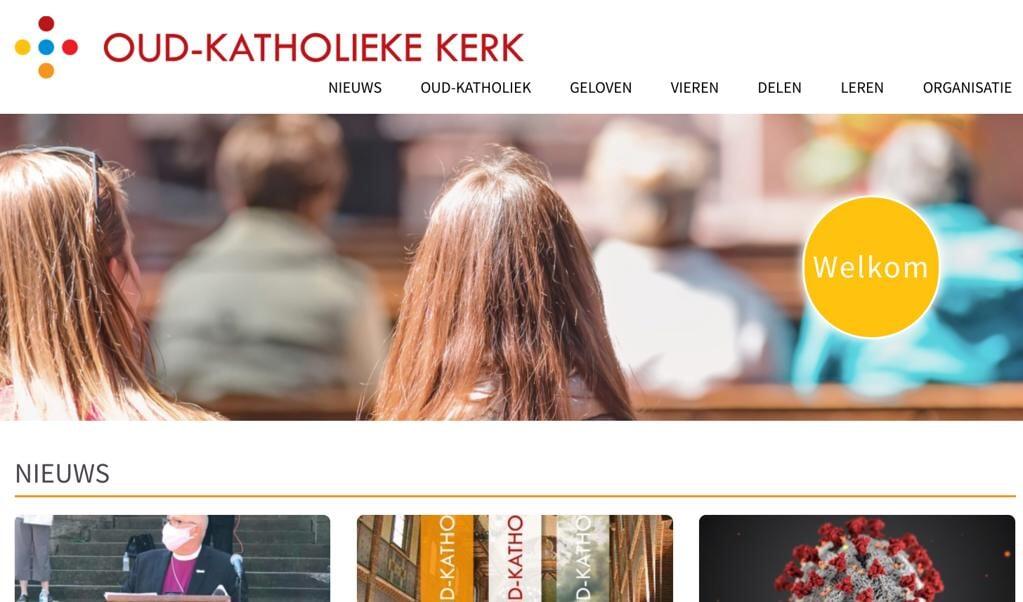 Screenshot van de nieuwe website van de Oud-Katholieke Kerk.  (beeld )