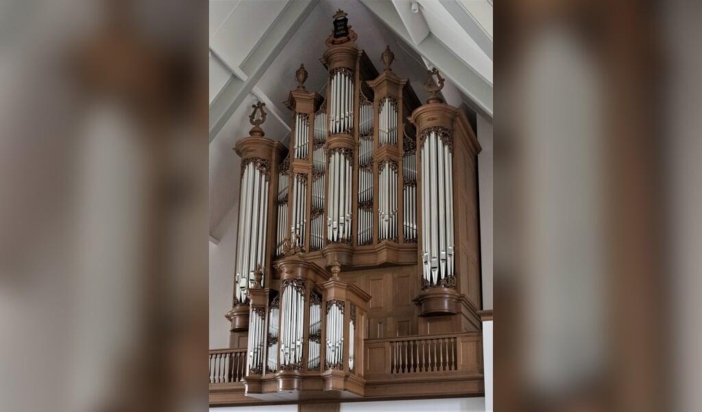 Het nieuwe Van den Heuvel-orgel in Lunteren: een indrukwekkend instrument met een stevige, volle, klank.  (beeld Peter Gertenbach)