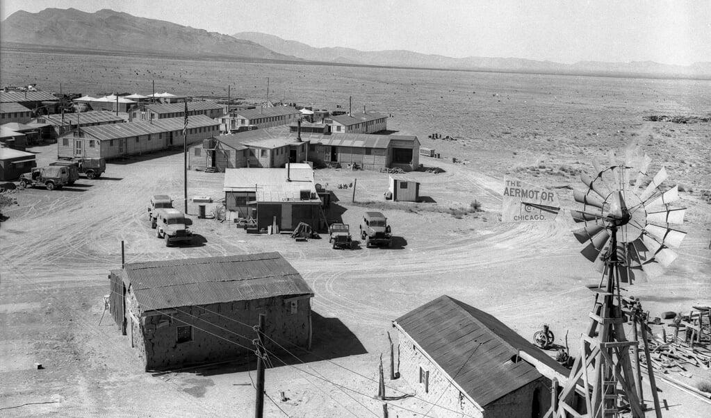 Trinity Camp, waar de atoombom werd getest.  (beeld wikimedia commons)
