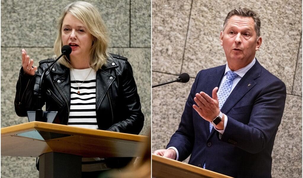 Kamerlid Agnes Mulder (CDA) en Kamerlid André Bosman (VVD).  (beeld anp / Remko de Waal)
