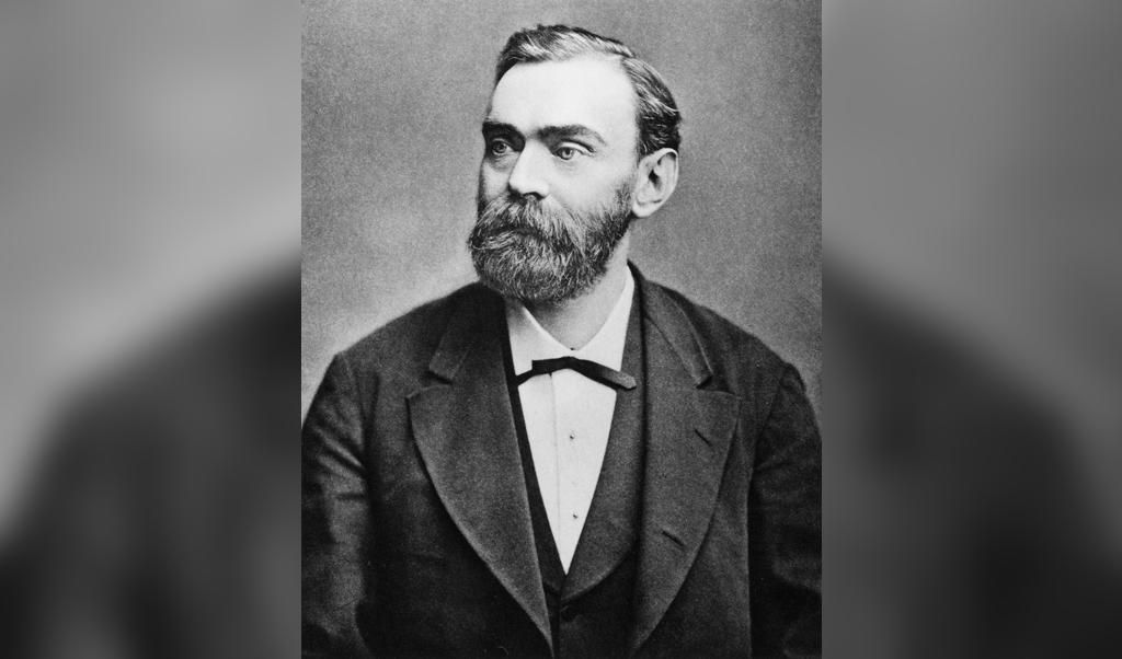 <p>Alfred Nobel</p>  (beeld wikipedia)