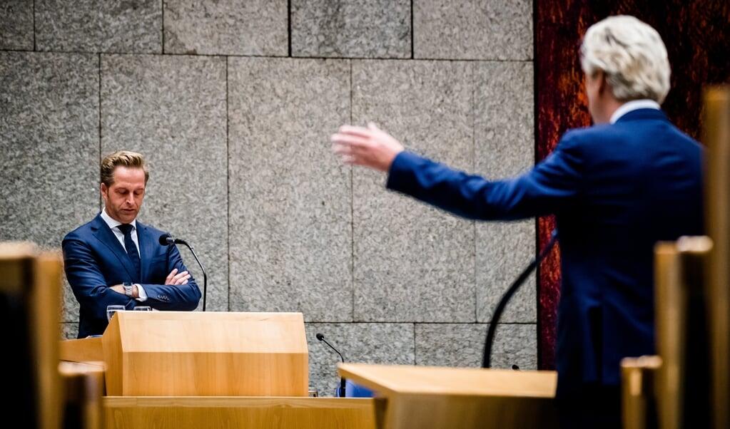 <p>Minister Hugo de Jonge van Volksgezondheid tijdens het Kamerdebat over het coronavirus.</p>  (beeld anp / Bart Maat)