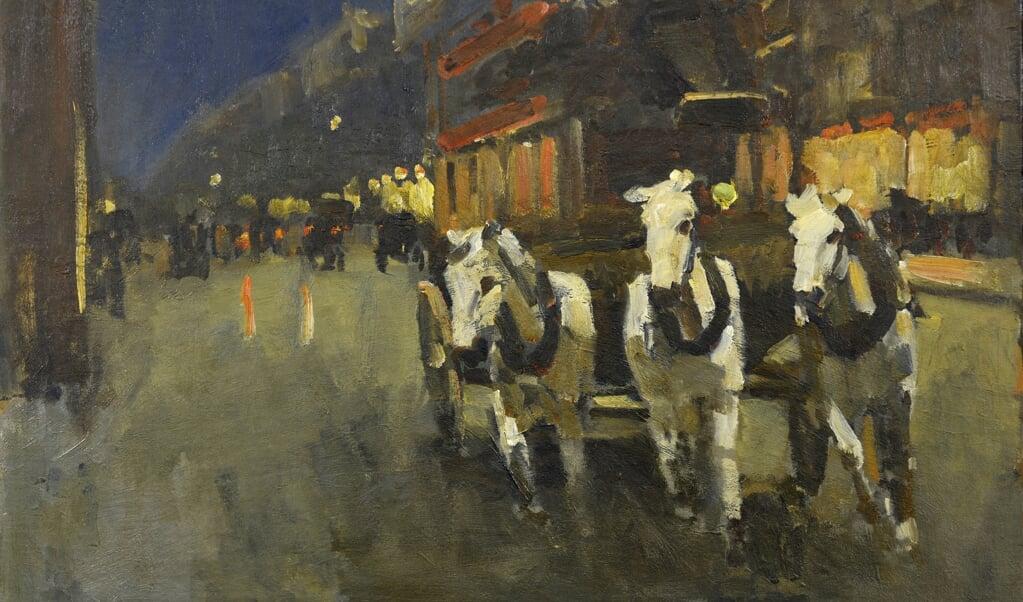 <p>Kees Maks (1876-1967), Madeleine-Bastille Omnibus, olieverf op doek, 1902.</p>  (beeld museum Singer Laren)