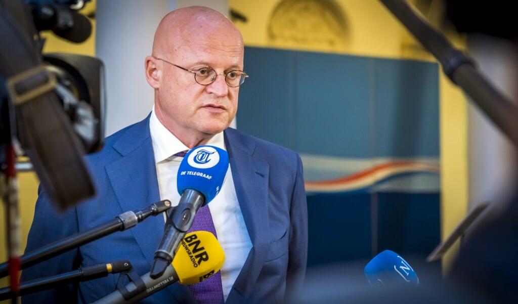 <p>Minister Ferd Grapperhaus van Justitie en Veiligheid.</p>  (beeld anp / Lex van Lieshout)