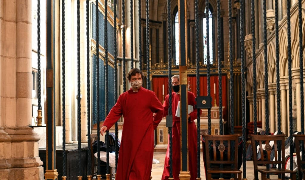 <p>Britse kerkleiders vinden dat kerken bij een eventuele nieuwe lockdown hun deuren niet kunnen sluiten.&nbsp;</p>  (beeld afp /  Oli Scarff)