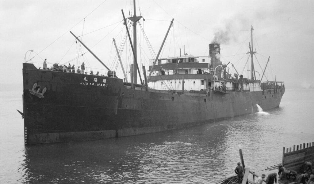 Een foto van de Junyo Maru in 1933.  (beeld nd)