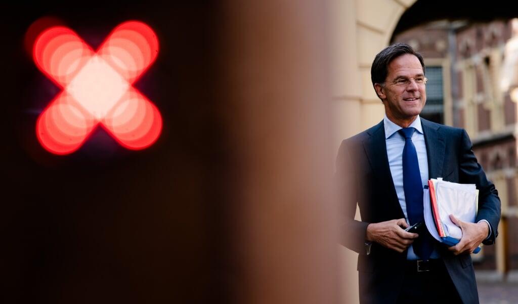 <p>Premier Rutte voorafgaand aan de tweede dag van de Algemene Politieke Beschouwingen.</p>  (beeld anp / Bart Maat)