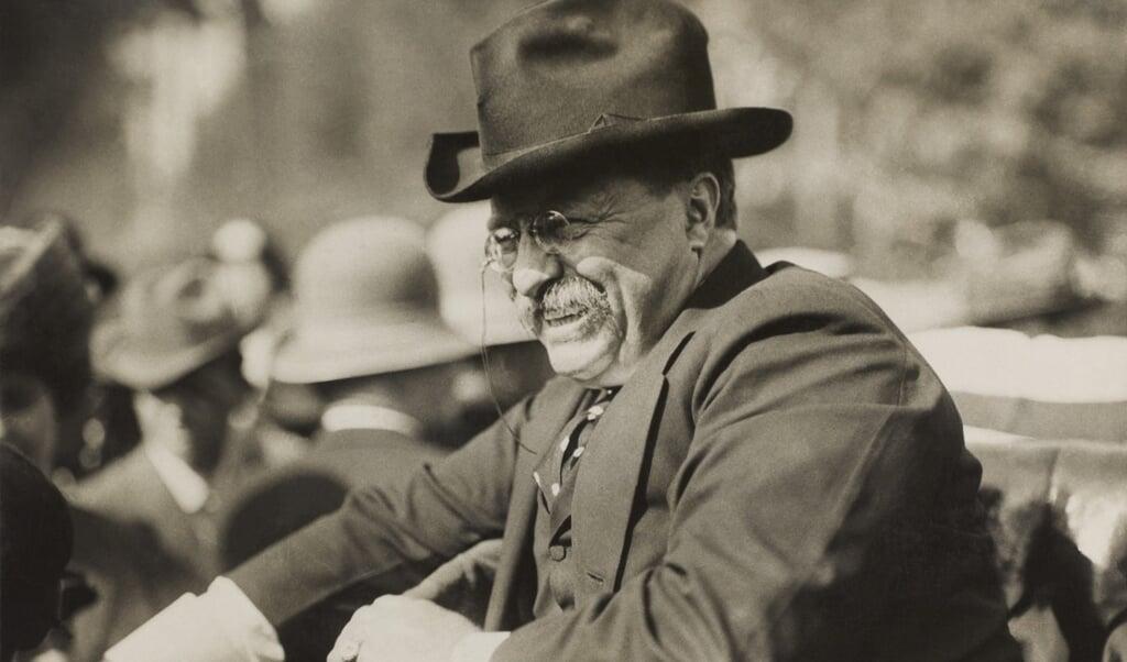 Theodore Roosevelt in 1910, kort na zijn vertrek uit het Witte Huis.  (beeld Library of Congress)