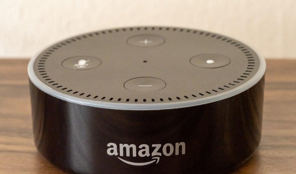 Een slimme speaker van Amazon  (beeld wikicommons / Ajay Suresh)