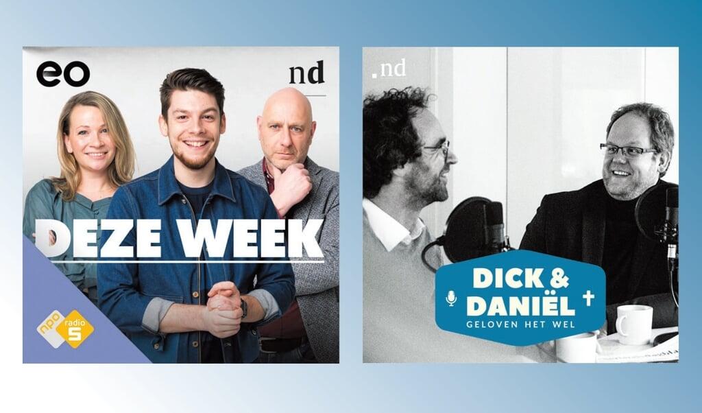 Het Nederlands Dagblad komt met twee nieuwe podcasts: Deze week en Dick&Daniël geloven het wel.  (beeld ND)