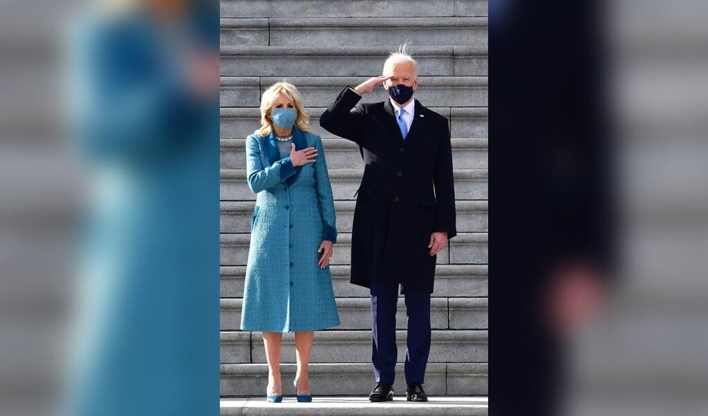 President Joe Biden en zijn echtgenote, First Lady Jill Biden.  (beeld afp / David Tulis)