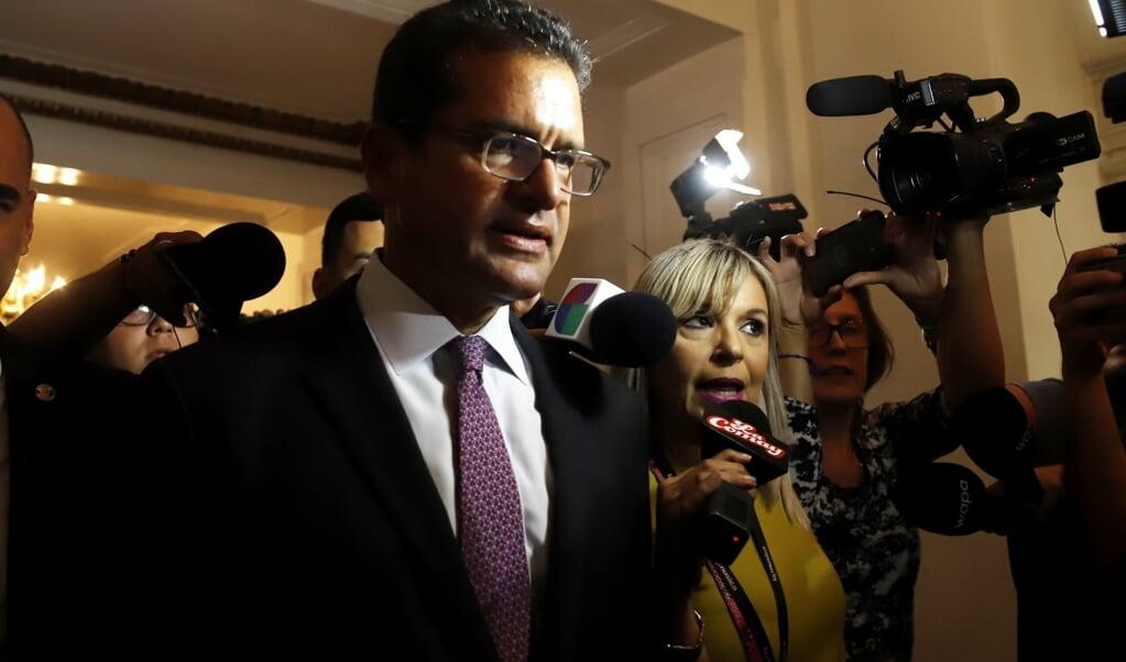 Pedro Pierluisi is sinds enkele weken de nieuwe gouverneur van Puerto Rico.  (beeld epa/ Thais Llorca)