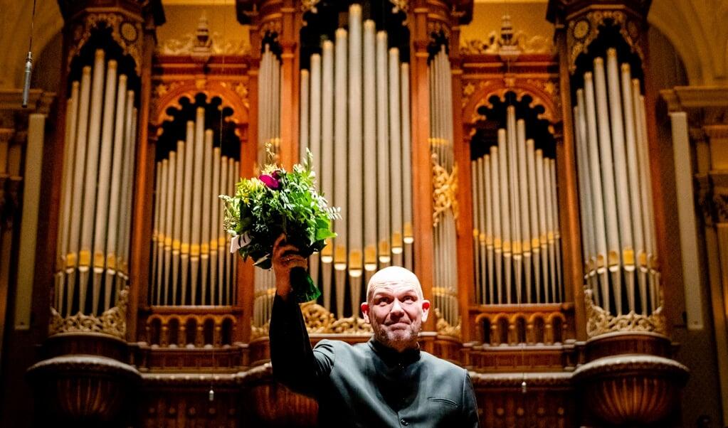 Dirigent Jaap van Zweden in het filmpje: 'Toch was 2020 het jaar van de kunst.'  (beeld anp / Sem van der Wal)