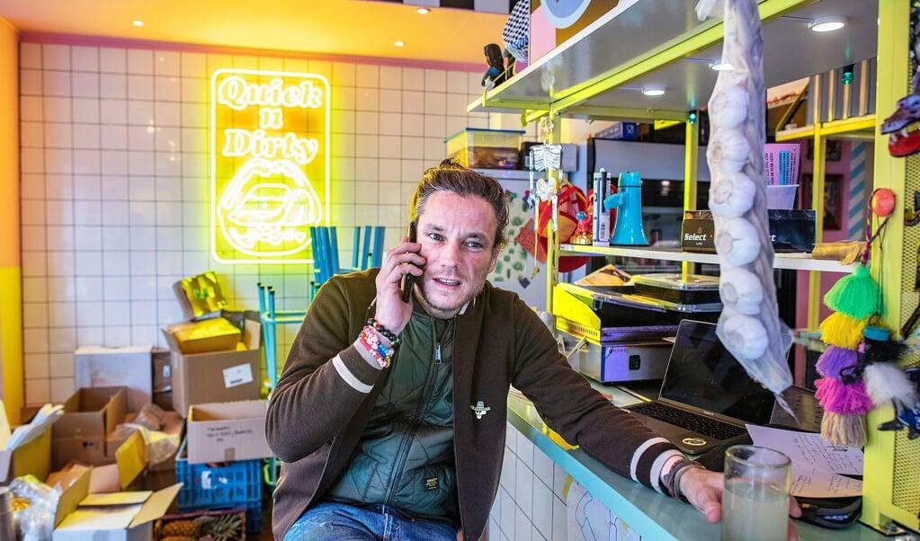 Jeroen Lens, eigenaar Mexicaans restaurant Local Dealer, door corona heeft hij veel problemen.   (beeld Guus Dubbelman)