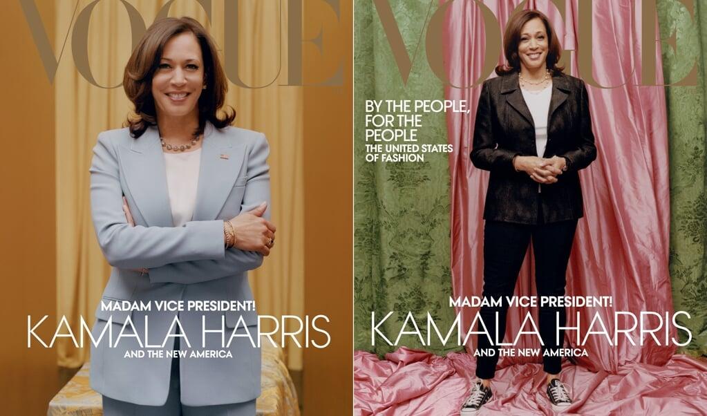 Ruzie was er over de voorpagina van het Amerikaanse blad Vogue. Links moest het officieel zijn, maar de vrijetijdskledingfoto binnenin kwam erop terecht.  (beeld afp / Tyler Mitchell / Vogue)