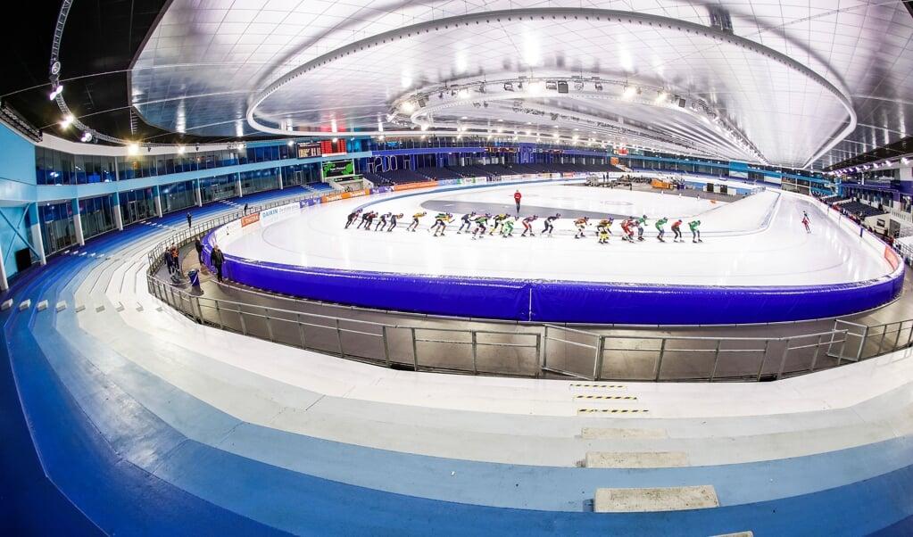 In Thialf worden de komende weken vijf belangrijke wedstrijden geschaatst.  (beeld anp / Vincent Jannink)
