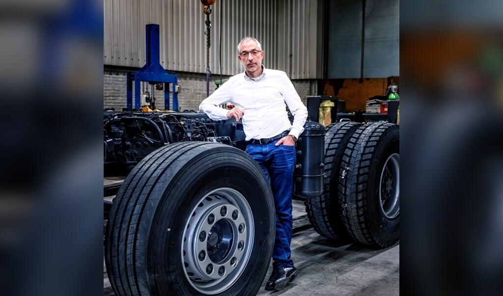 Directeur Roeland van der Woude van Ginaf Trucks.  (beeld Raymond Rutting)