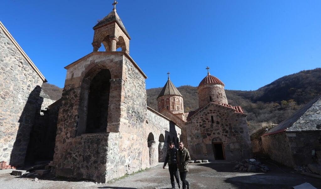 Het Dadivank klooster in de regio Kalbajar is nu in handen van Azerbeidzjan.  (beeld epa / Hayk Baghdasaryan)