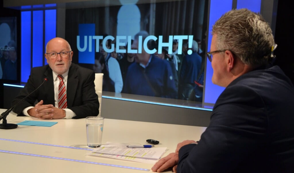 Pete Hoekstra, de Amerikaanse ambassadeur in Nederland, aan tafel in Uitgelicht!  (beeld Berry Janssen)