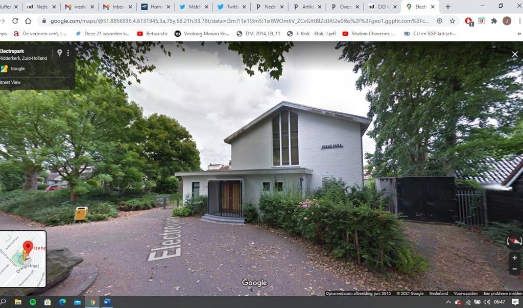 Irenekerk Ridderkerk  (beeld Google Maps)